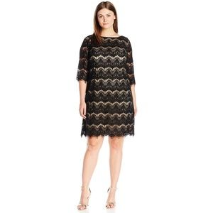 Jessica Howard Black Lace Dress